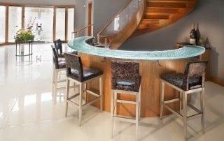 White Metallic Glass Stair Treads Glass Flooring