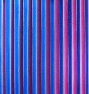 Red/Cobalt on Sawtooth Texture Decorative Glass