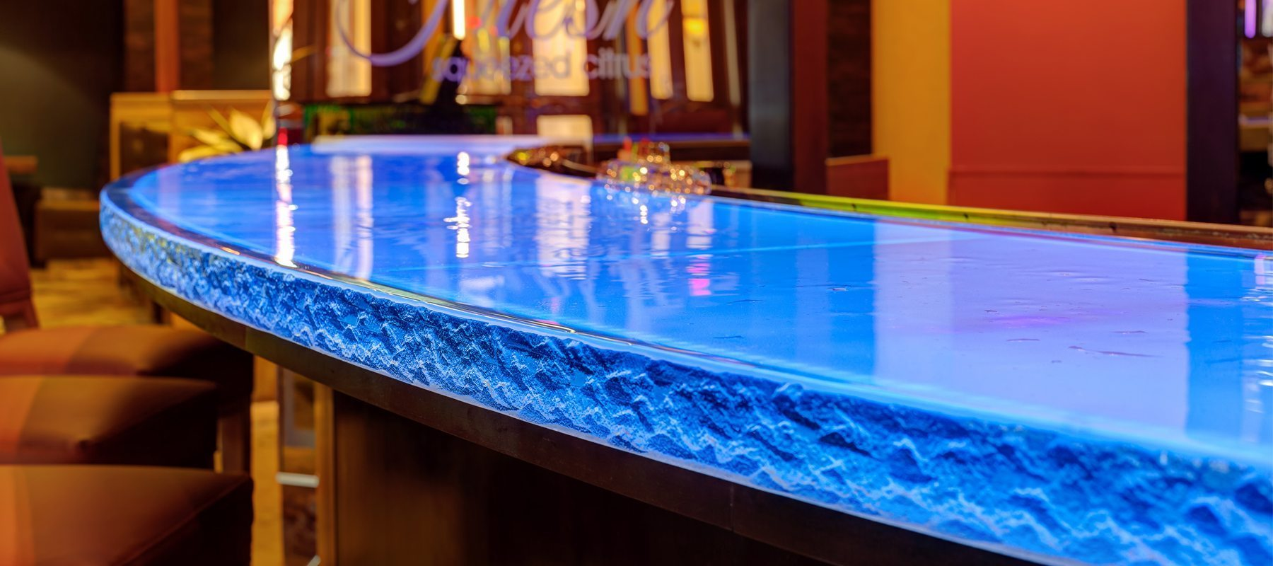 Silver Reef Casino Thick Glass Countertop