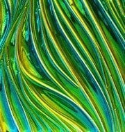 Aqua/Amber on Willow Texture Decorative Glass