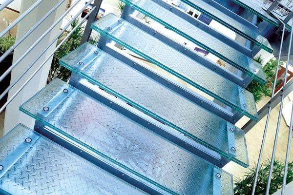 glass stairs glass stair treads