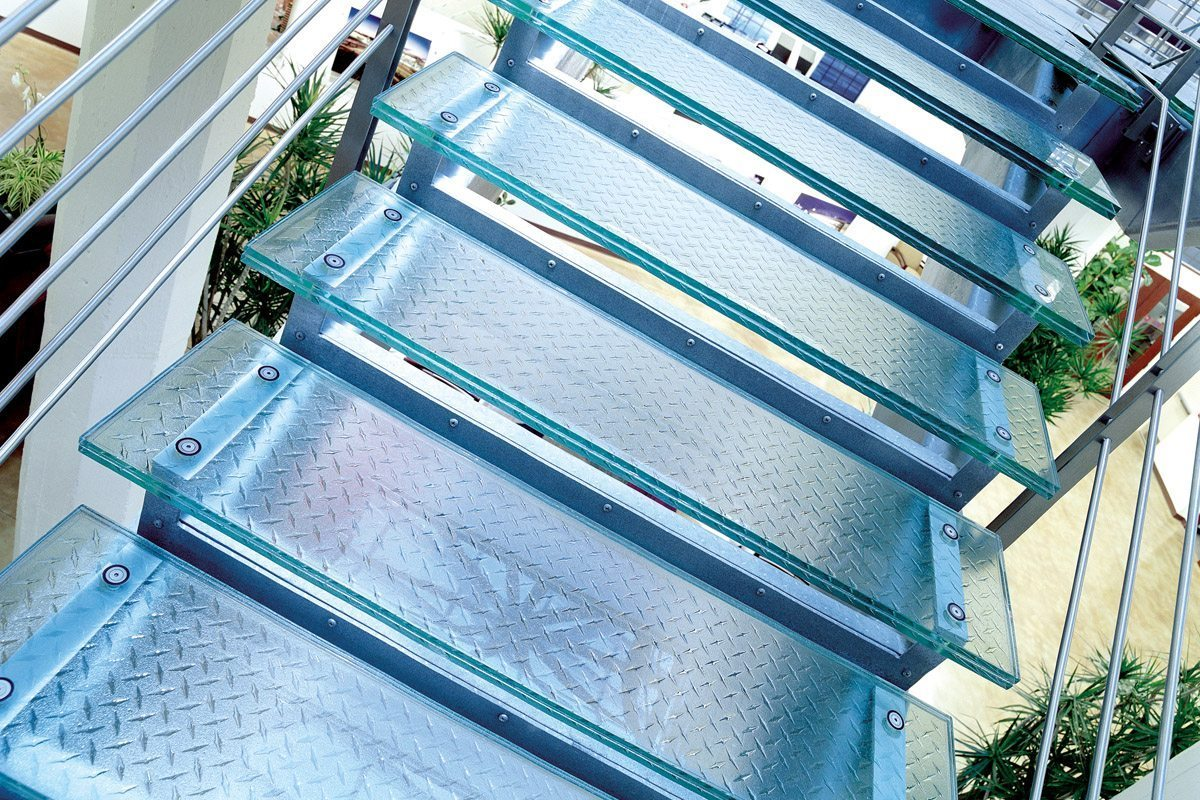 glass stair treads and flooring