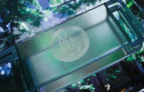 decorative glass logo for Holt Renfrew