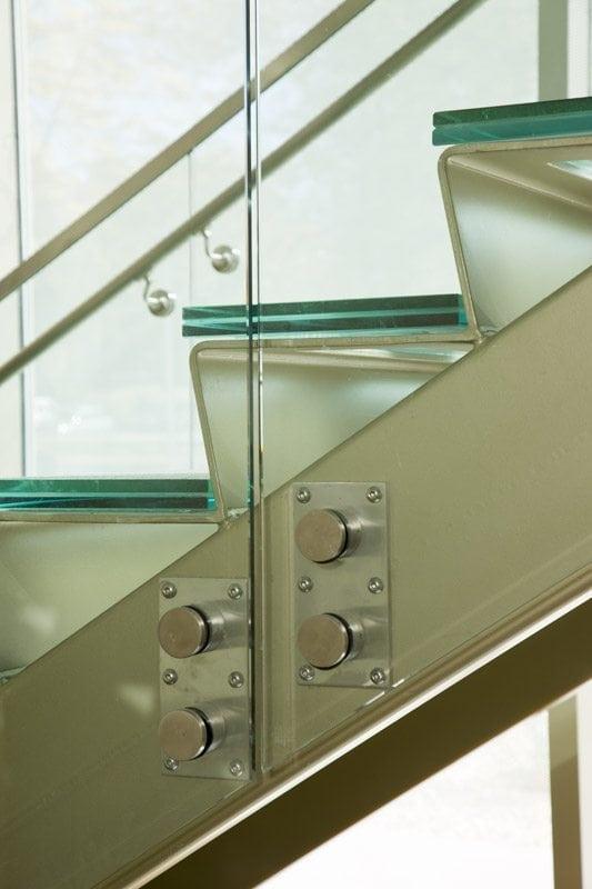 Sandpaper Glass Stair Treads