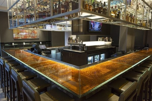 Anaheim Marriott Thick Glass Countertop