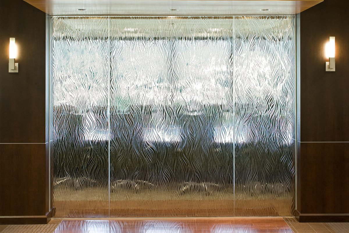 willow decorative glass partition
