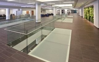 decorative glass flooring by Nathan Allan Glass Studios