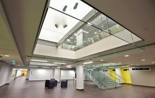 Canisius College Pixel Glass Stair Treads Glass Flooring
