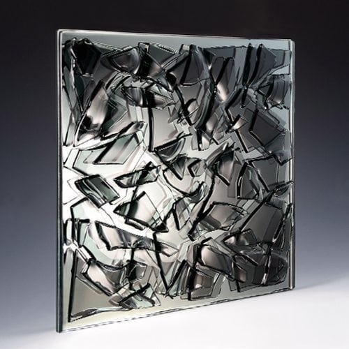 Crackle Black Glass Architectural Glass Decorative Glass