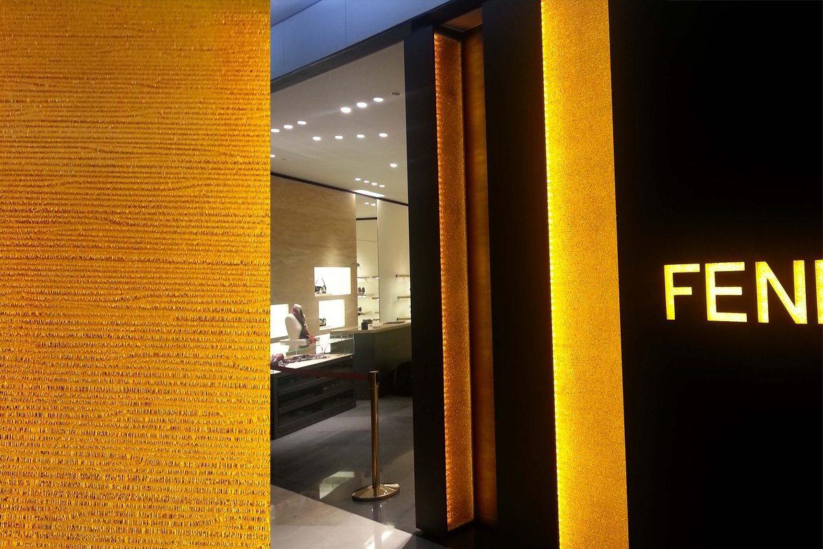 Fendi Crystal Series Deep Rain Architectural Glass Wall