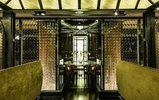 decorative glass panels transform Isono and Vasco Restaurant