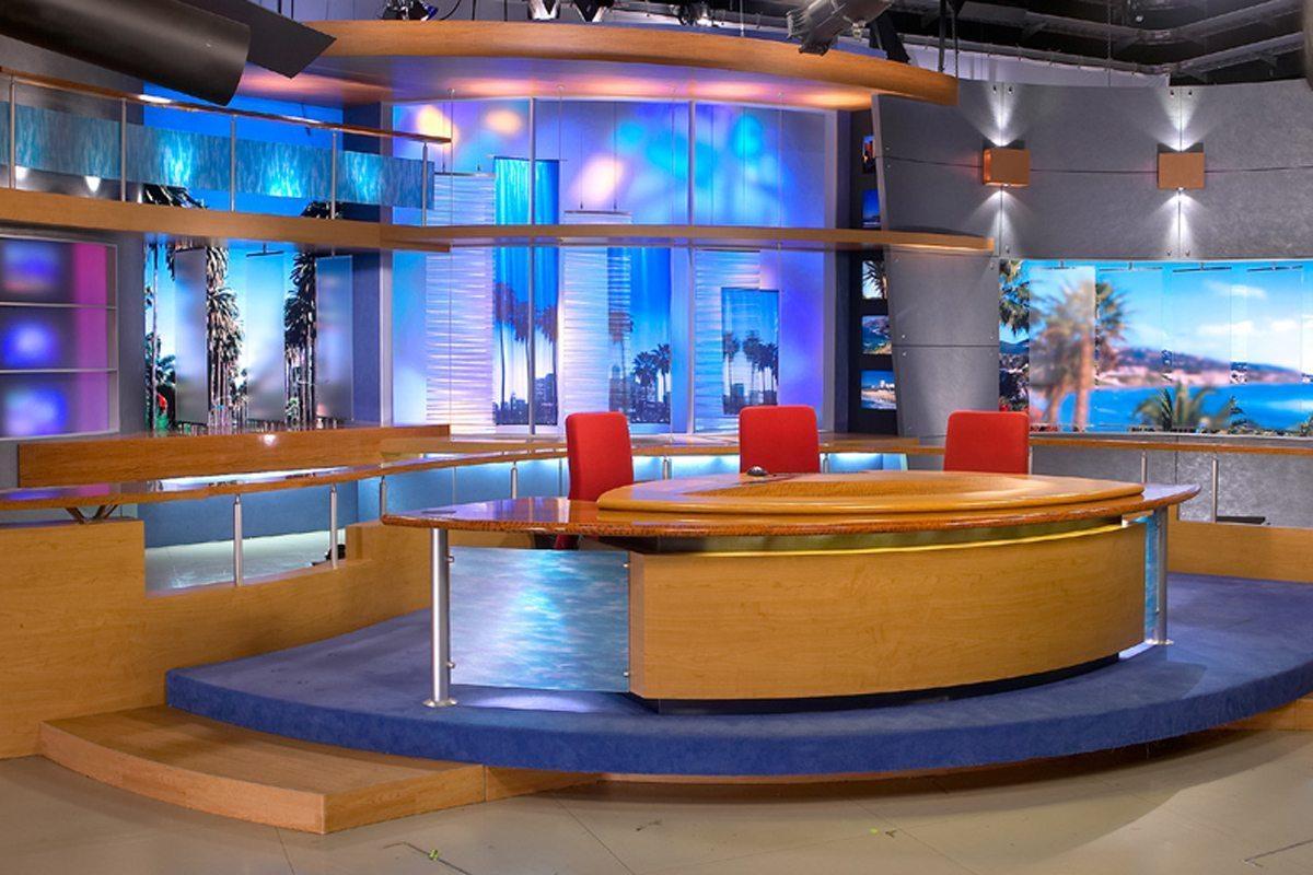 KT TV Studio Nathan Allan Glass Studios