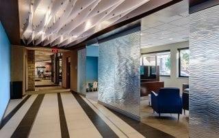 mirage texture decorative glass partition