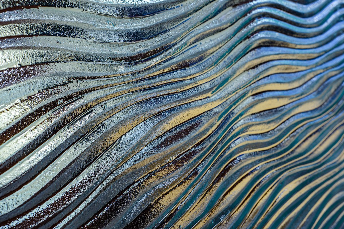 mirage texture decorative glass by Nathan Allan Glass Studios