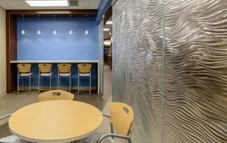 mirage decorative glass partition for Mother Mercy Hospital by Nathan Allan