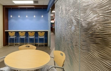 Nathan Allan Glass Studio glass partition for Mother Mercy Hospital