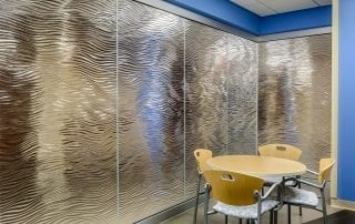mirage texture glass partitions by Nathan Allan Glass Studios