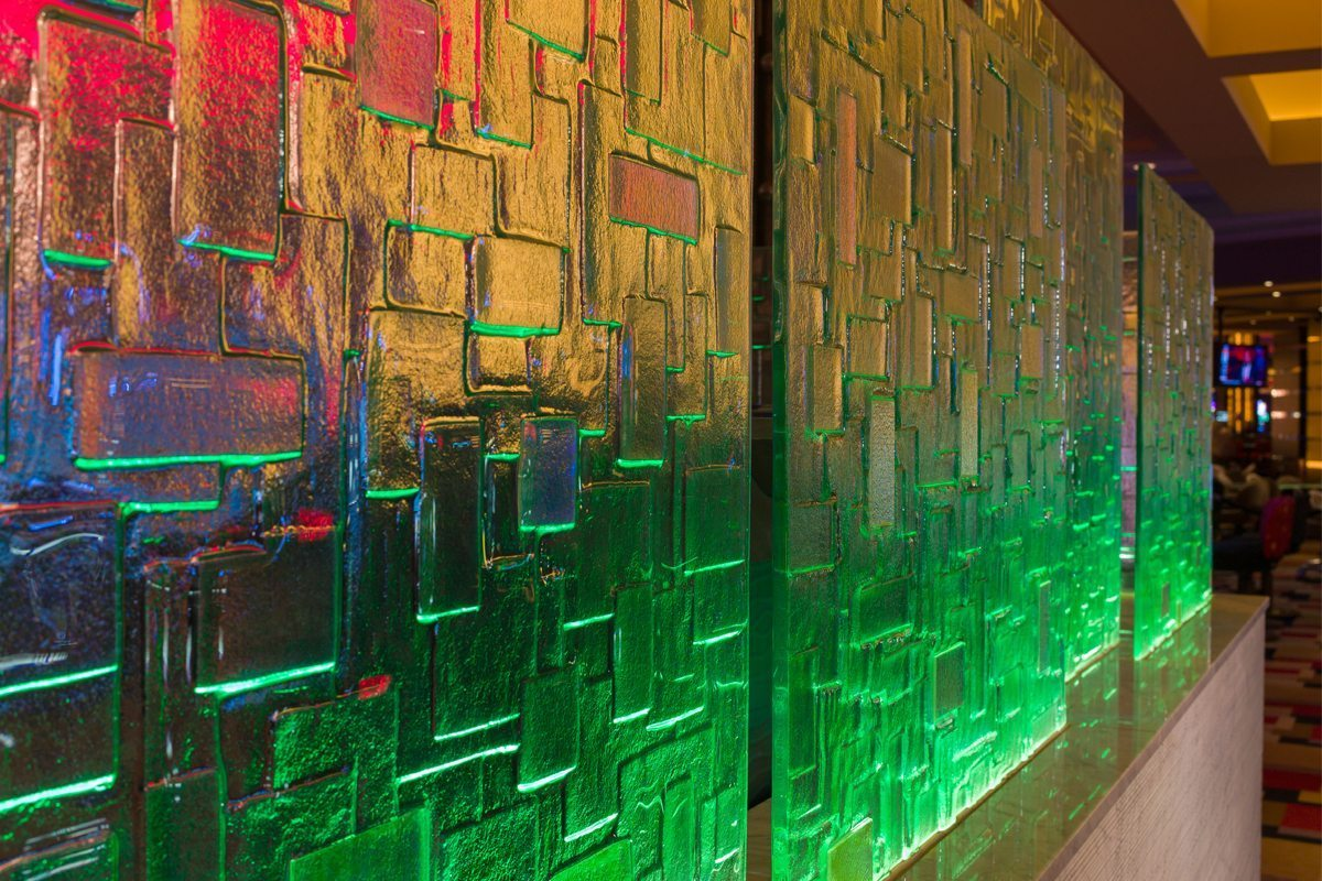 dichoric glass walls by nathan allan