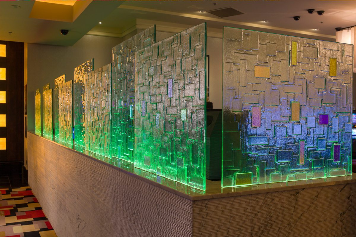 decorative glass walls