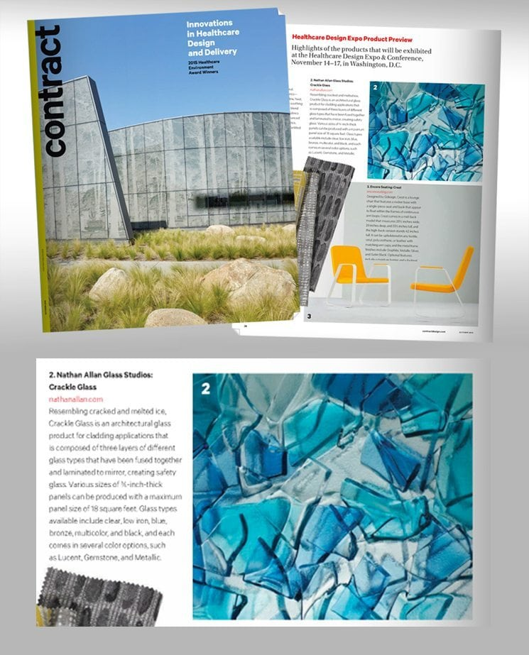 crackle glass in contract magazine