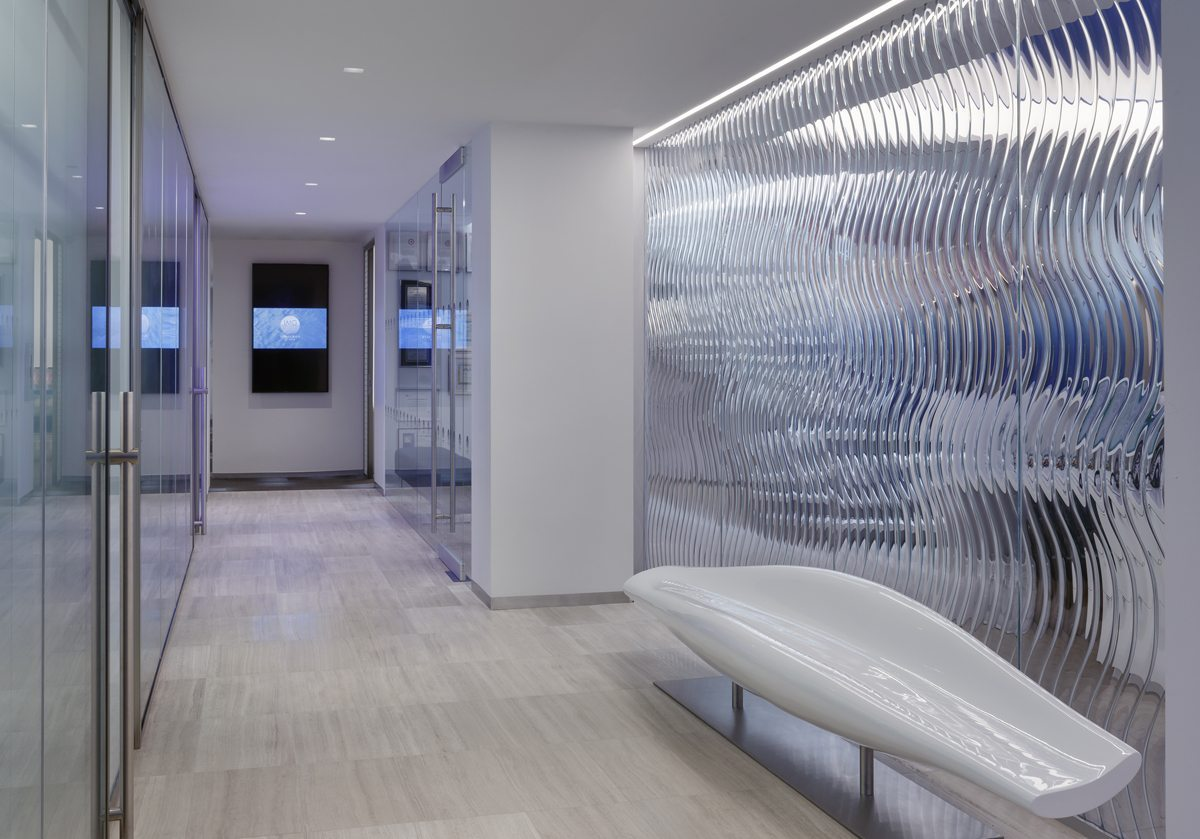 willow gemstone decorative glass wall panels for Pacific Sotheby's