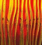 Red/Amber on Mirage Texture Decorative Glass