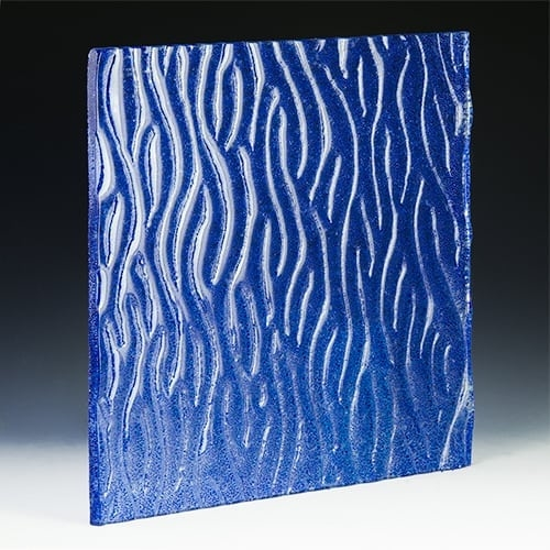 Crystal Cobalt Textured Glass