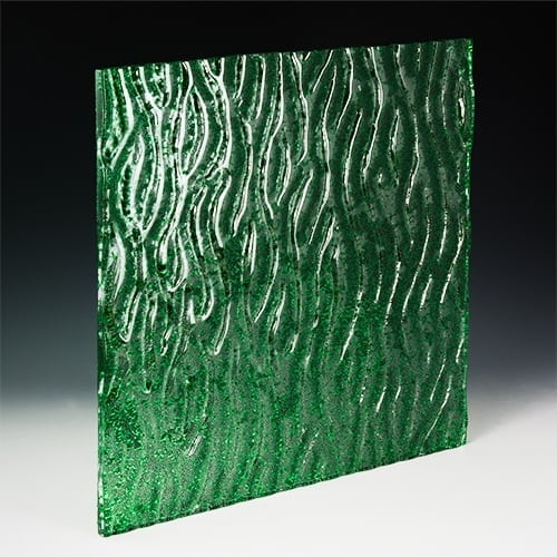 Crystal Green Textured Glass
