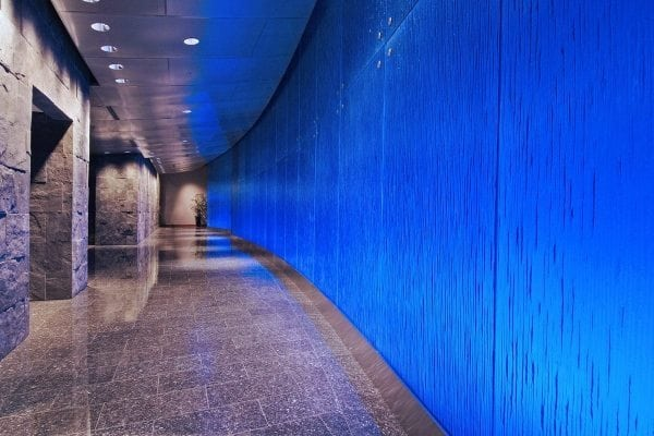 Hayden Ferry Cobalt Blue Cascade XL Textured Glass Walls