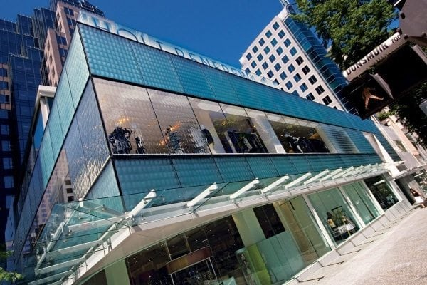 Holt Renfrew Convex Squares Architectural Glass Cladding Glass Façade