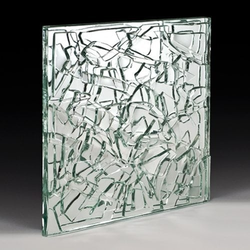 Crackle Low Iron Textured Glass