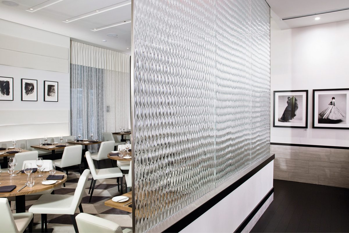 Sophie's Teardrop XL Architectural Glass Partition