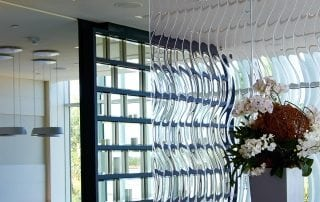 Echo Glass Partition by Nathan Allan Glass Studios