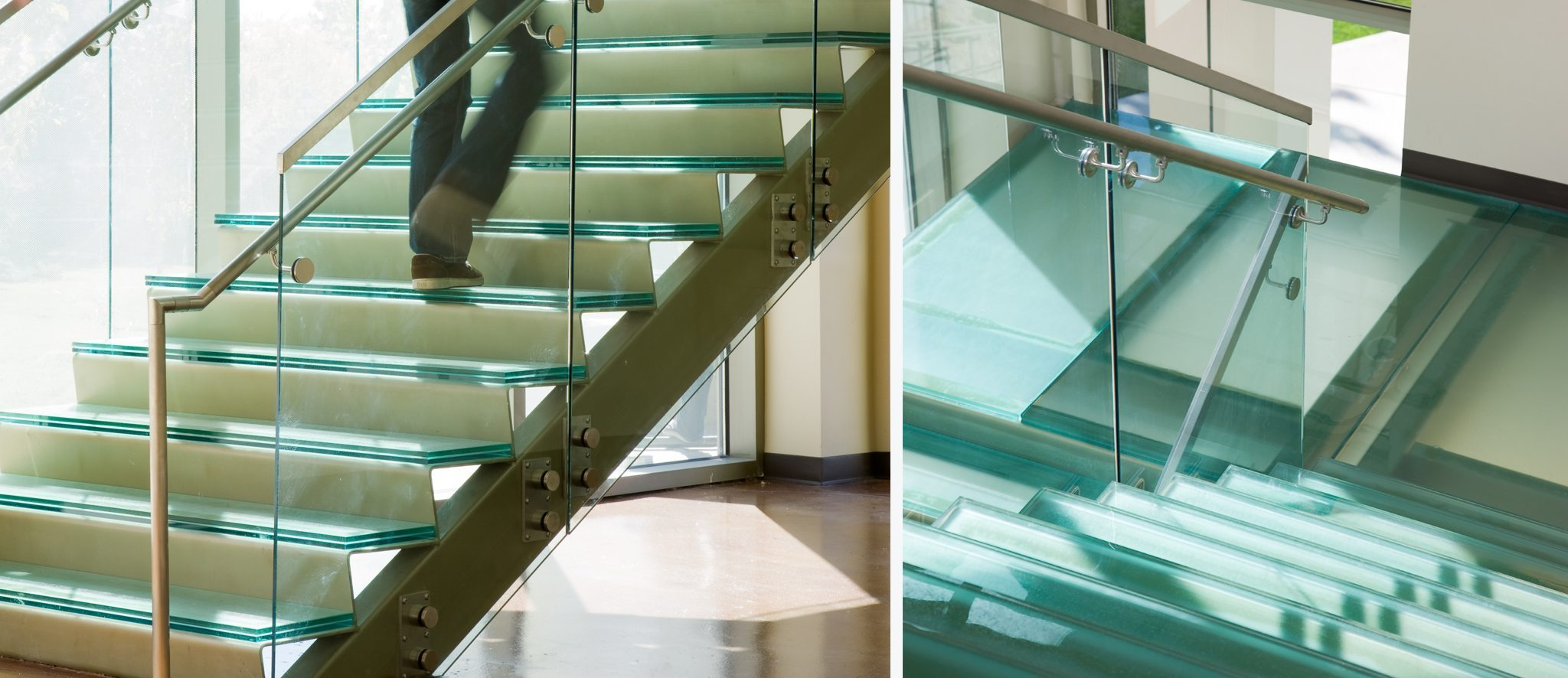 Glass Sandpaper Stair Treads