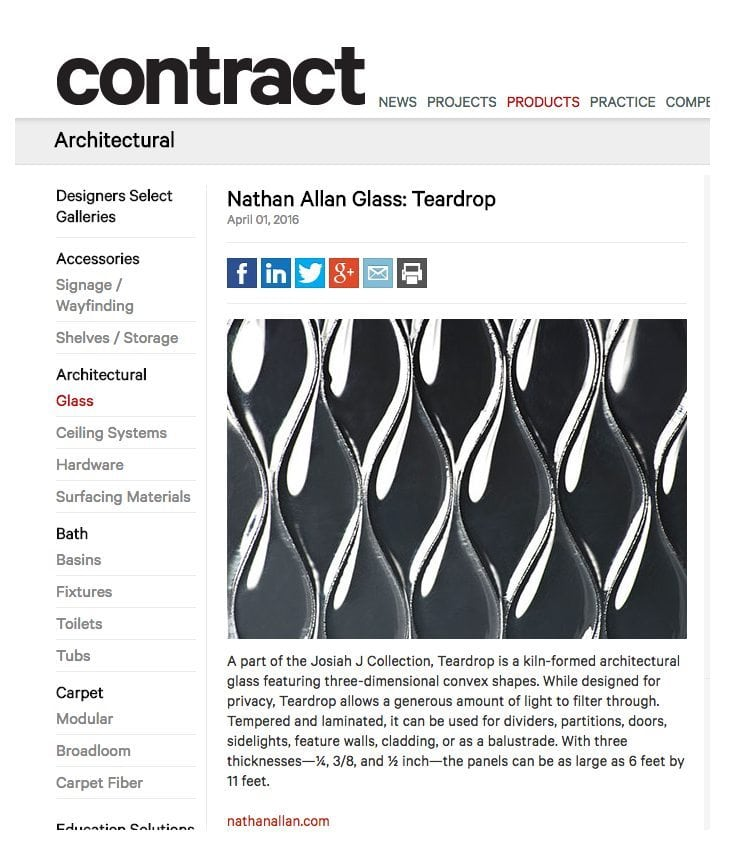 Contract Magazine Crackle Glass