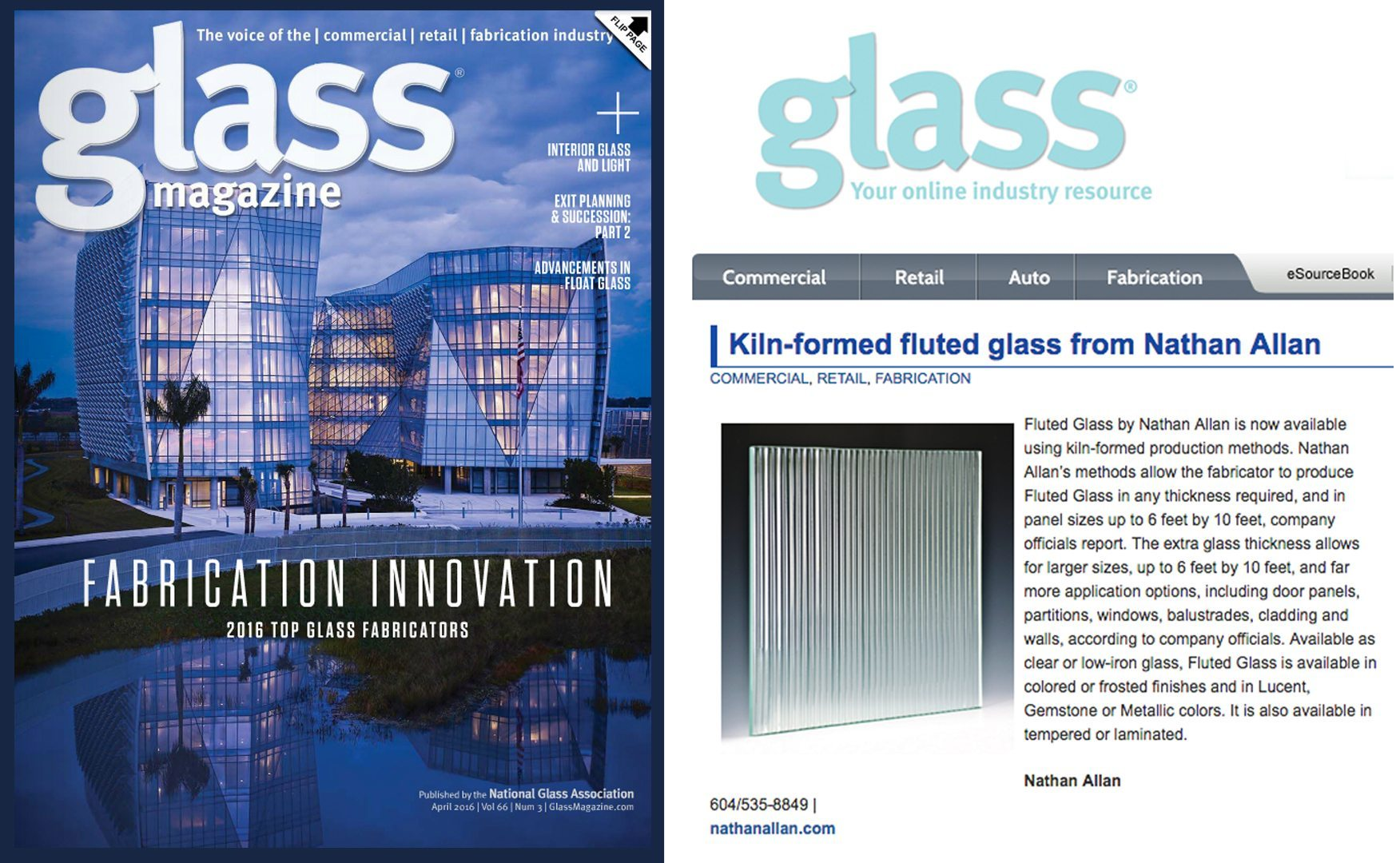 Glass Magazine Fluted Glass