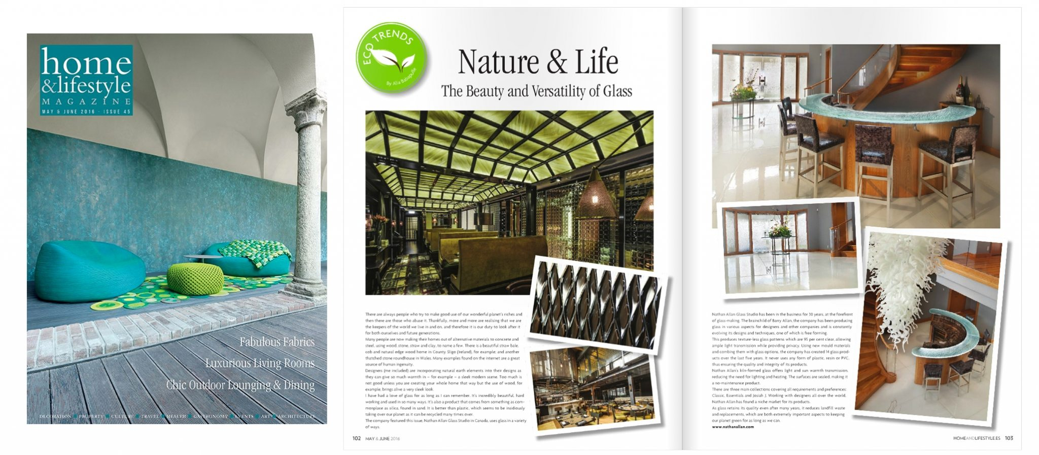 Home and Lifestyle Magazine Nathan Allan Decorative Glass