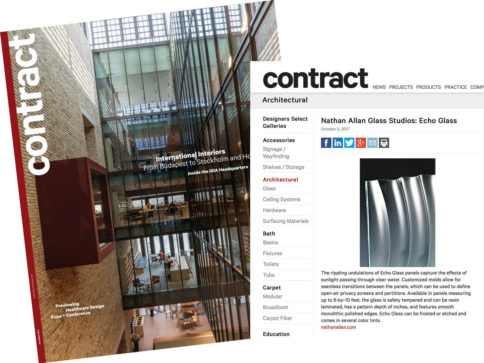 Contract Magazine Echo Glass