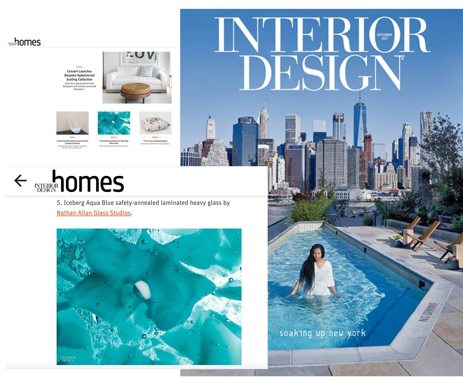 Interior Design Magazine Iceberg Glass