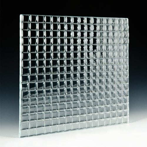 Convex Square 1 Textured Glass