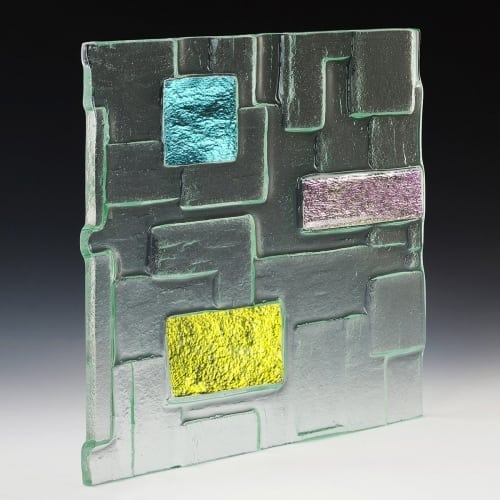 Citadel Dichroic Textured Glass