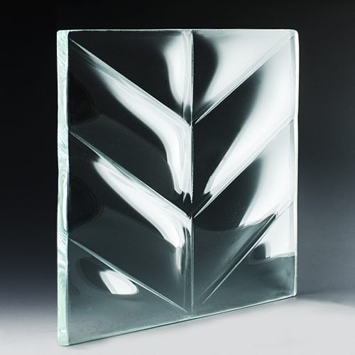 Convex V Triangle Textured Glass