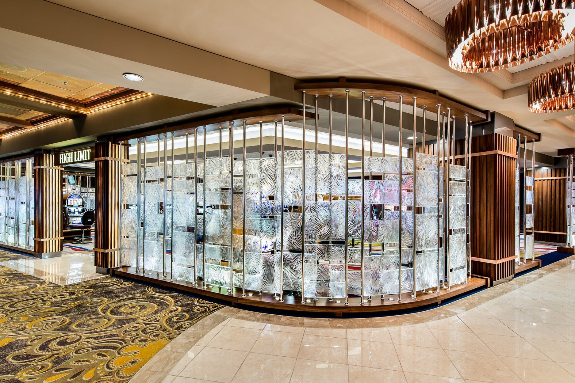 Ameristar Blackhawk Casino Willow Architectural Glass Partition