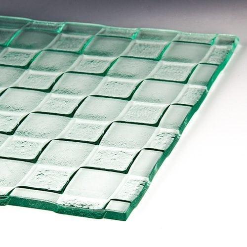 Checkerboard Textured Glass