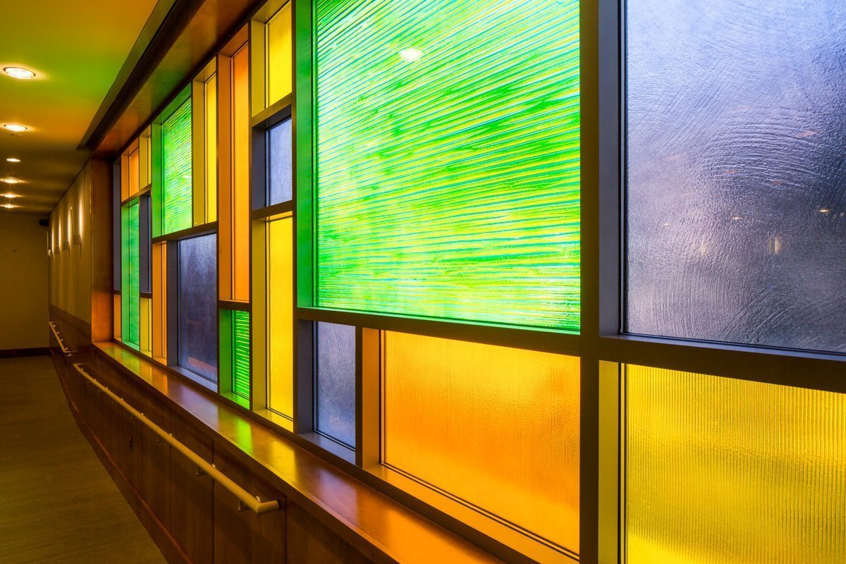 Lynwood City Hall Architectural Textured Glass Partition