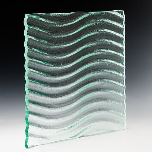 Wave Textured Glass