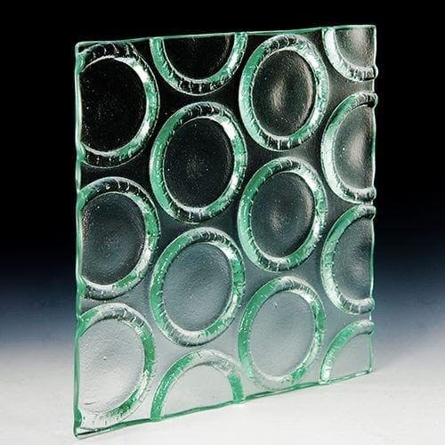 Bottle Base Clear Textured Glass