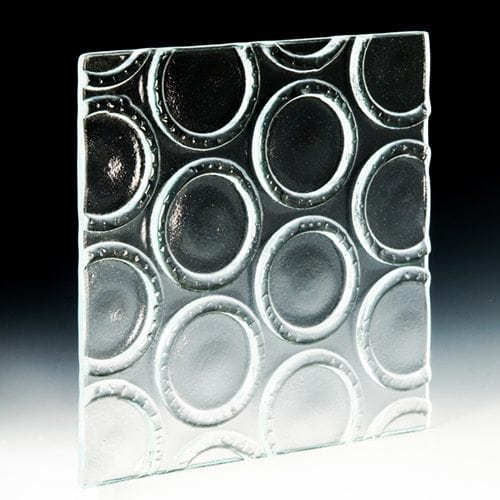 Bottle Base Crystal Clear Textured Glass