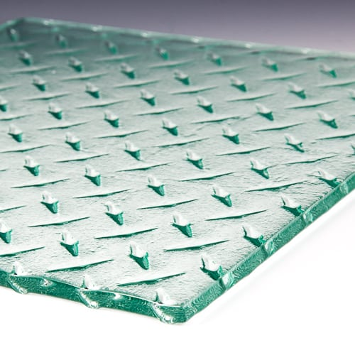 Diamondplate Textured Glass
