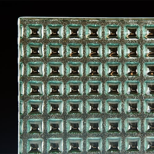 Factory Squares Textured Glass